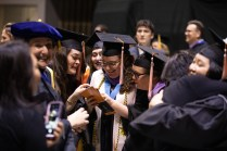 College of Architecture and Design Hooding Ceremony inside Thompson-Boling Arena on May 11, 2019. Photo by Steven Bridges.