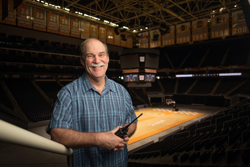 Environmental portrait of arena manager Tim Reese