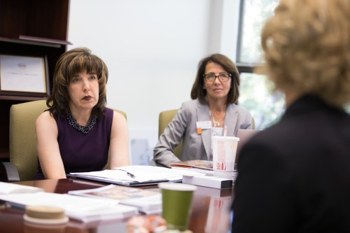 Anne Hazlett, senior adviser for the White House Office of National Drug Control Policy visits campus on September 12, 2019 to discuss the current situation of the opioid crisis in Tennessee.