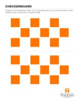 Checkerboard Halloween Cut Out