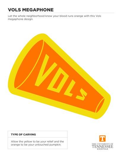 Vols Megaphone Halloween Cut Out