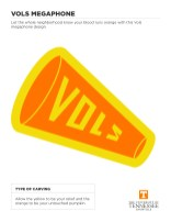 Vols Megaphone Halloween Cut Out