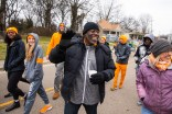 Tyvi Small, vice chancellor for diversity and engagement, marches in the Knoxville Martin Luther King Jr. parade with other UT students, faculty, and staff on January 20, 2020. Photo by Steven Bridges/University of Tennessee.