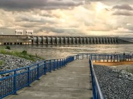 Still water on waterfront of Calvert City