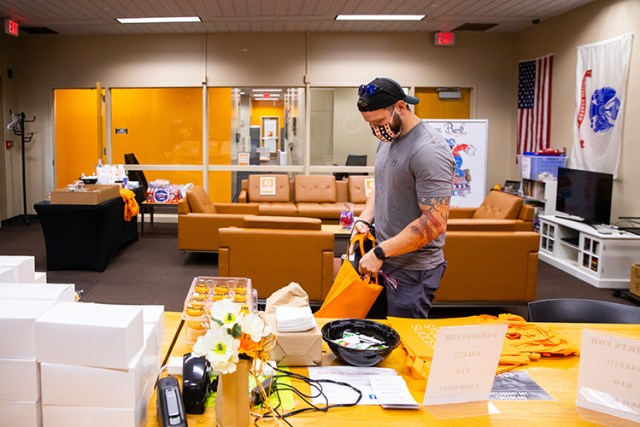 Veterans Resource Center celebrates all Veterans who are also first-generation college students with free food, swag and goodies