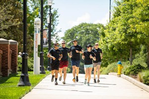 A UT Police Department team ran the Flame of Hope from the UT Knoxville campus to Alcoa