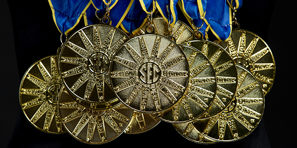 Erika Brown's SEC medals