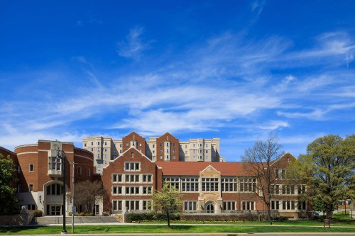 The Law Complex: George C. Taylor Wing sits