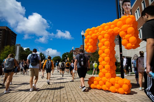 Students return for the first day of classes