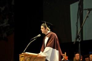 UT Commencement speaker and ORNL director, Thom Mason, addresses graduates.