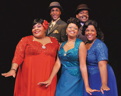 "The cast of CBT's ""Ain't Misbehavin'"""