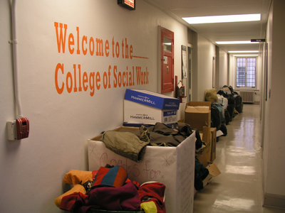 Social Work students collect 'Coats for the Cold'