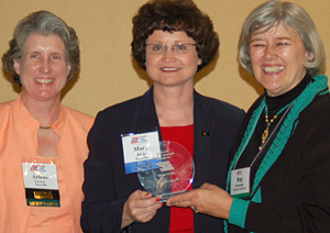 Arlene Garrison, Mary Jinks and Patricia Schroeder
