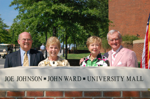 Joe and Pat Johnson and Betty and John Ward