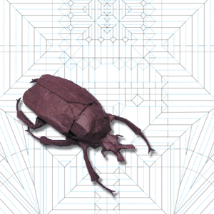 Origami stag beetle