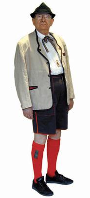 George K. Schweitzer in lederhosen