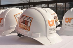 Ceremonial Hardhats for the Tickle Engineering Building Groundbreaking