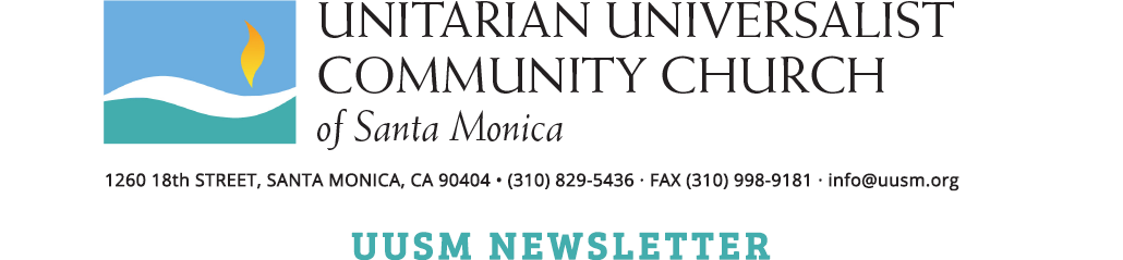 UUSM Newsletter Logo