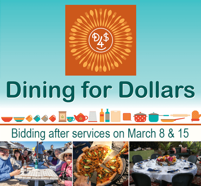 Dining for Dollars bidding - March 8 & 15