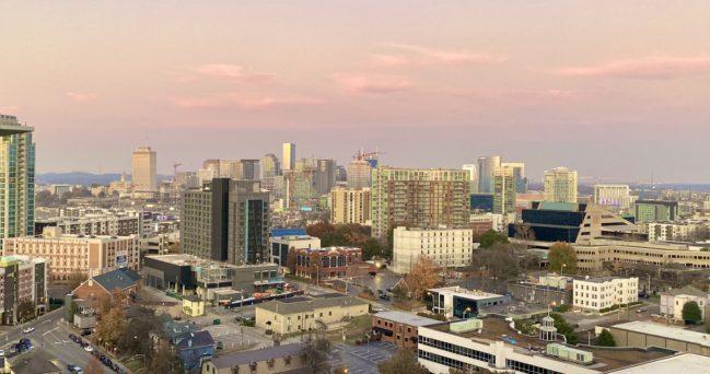 Nashville sunset, captured by Social 'Dore @t_hop05