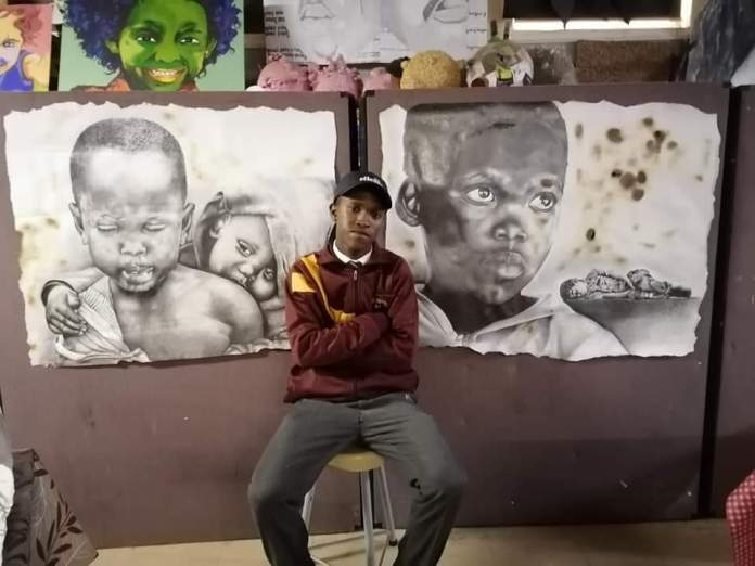 Cohnwille Swarts vannie Malmesbury takes social media by storm with his art