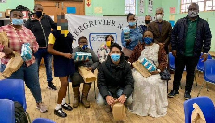 UWC law students donate sanitary pads to local primary schools