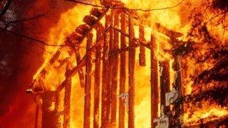 пожар в марке - частный дом горел в марке - проишсествия