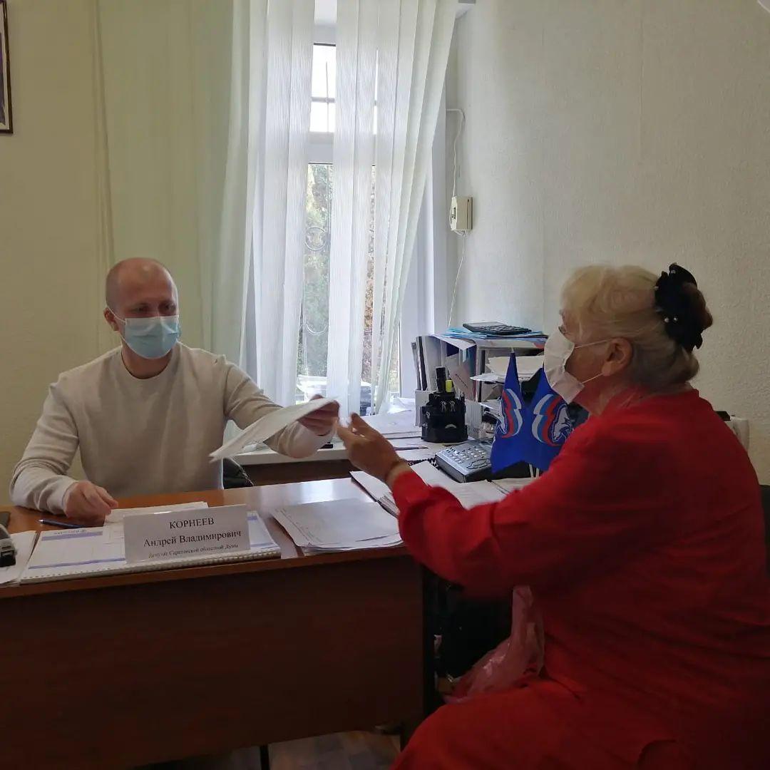 Марксовцы обращаются к Андрею Корнееву за помощью в решении вопросов