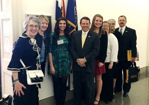 Roberta (fourth from right) visiting with Rep. Sam Graves at the2015 4-H National Conference.