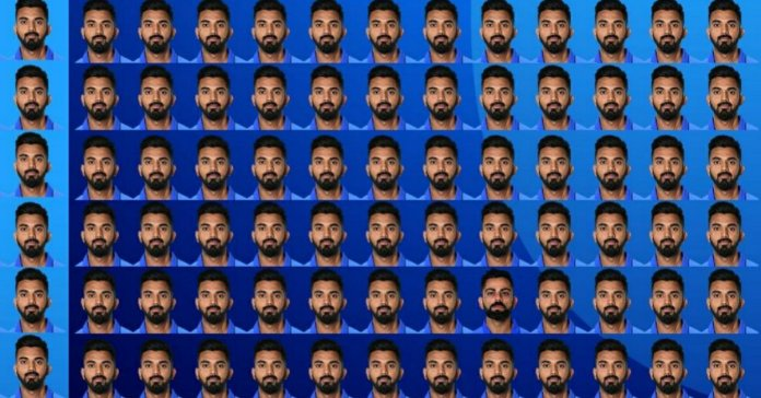 ICC Challenge people to find out Virat Kohali among 131 KL Rahul in a picture