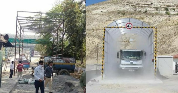 Himachal to make first tunnel to sanitize vehicles coming from other state