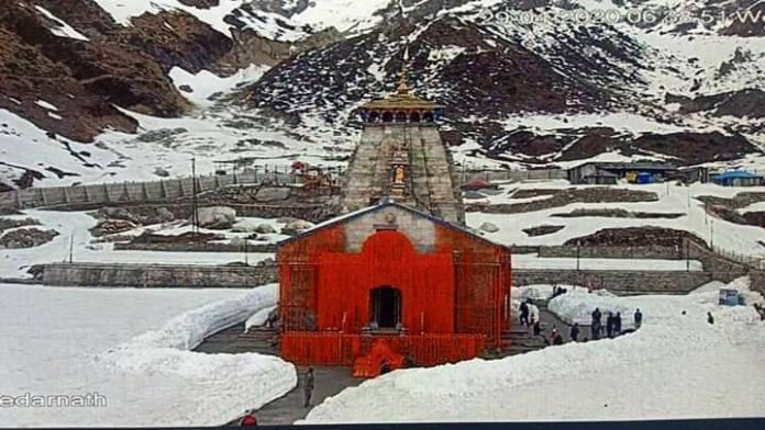 Kedarnath temple latest picture