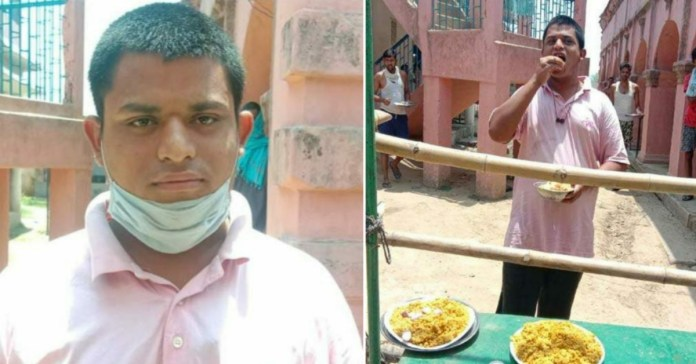 Bihar: A Migrant in quarantine center eats 80 litti, 40 rotis and 10 plates rice a day