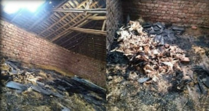 Kangra : Fire in cattle shed due to lightning fall