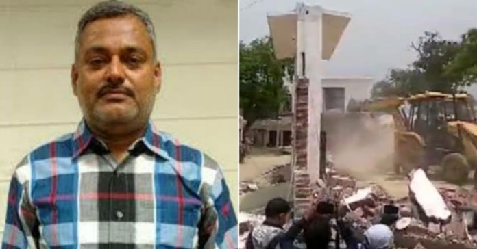 Gangster Vikas Dubey house demolished by UP Police