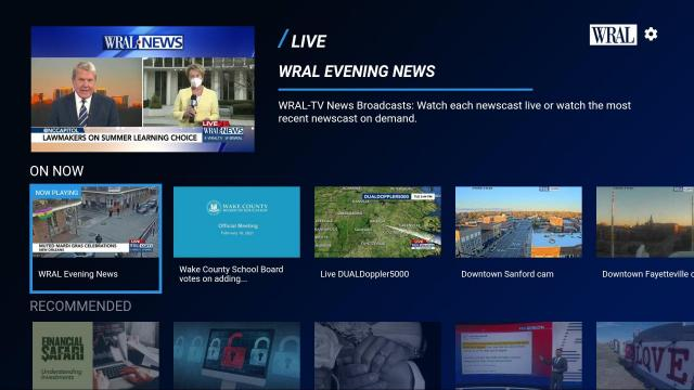 WRAL streaming TV apps