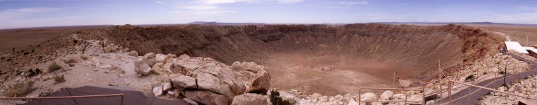 New research at Meteor Crater shows extreme temperatures and pressures during the impact that created the crater 49,000 years ago. AARON CAVOSIE  - See more at: http://news.wisc.edu/cataclysm-at-meteor-crater-crystal-sheds-light-on-earth-moon-mars/#sthash.bo1UuzGl.dpuf