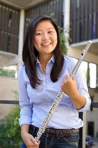 Photo: Hinano Ishii holding flute