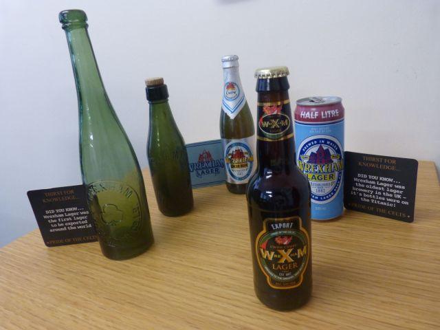 Old Wrexham Lager bottles