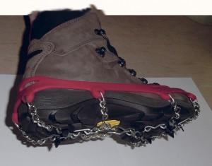 Garantierter Halt mit Ihrem Sicherheitsschuh und schnell zur Hand: Die Ice Track Klettereisen.