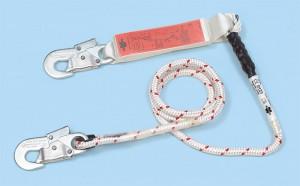 Ein typisches Verbindungsmittel mit Bandfalldämpfer