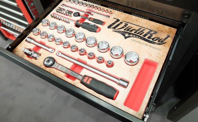 Der Limited Edition Würth Rod Werkstattwagen wurde ebenfalls auf der Automechanika präsentiert.