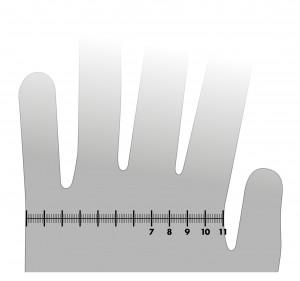 So ermitteln Sie Ihre Handschuhgröße mit dem Lineal