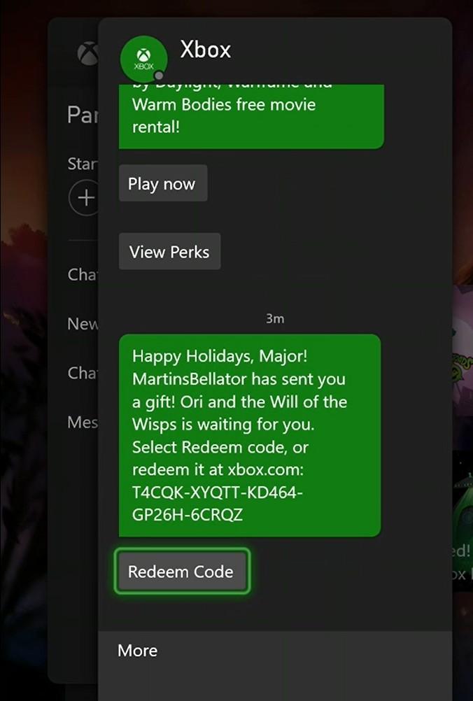 Ori Gift Message