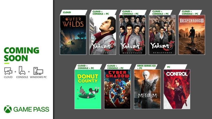 Xbox Game Pass enero 2021