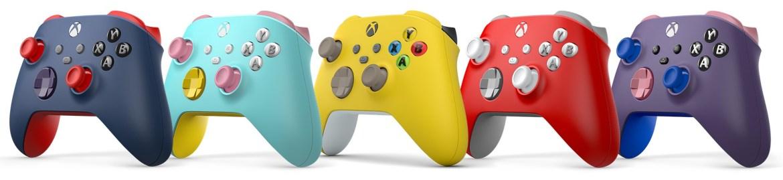 Controladores de laboratório de design do Xbox