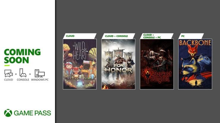 Xbox game pass juegos junio 2021 for honor backbone darkest dungeon wild heart
