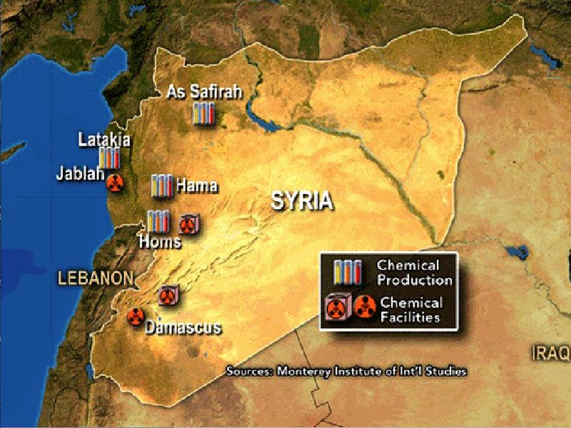 armi chimiche mappa Siria
