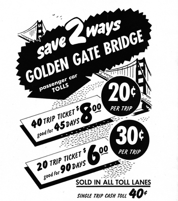 Golden Gate Bridge Toll