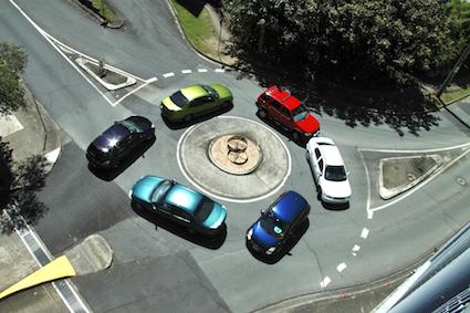 Alamo traffic roundabout.
